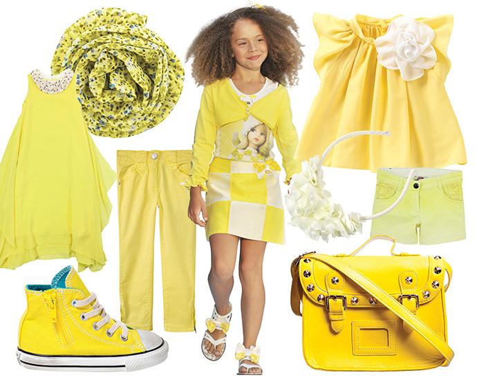 все оттенки желтого