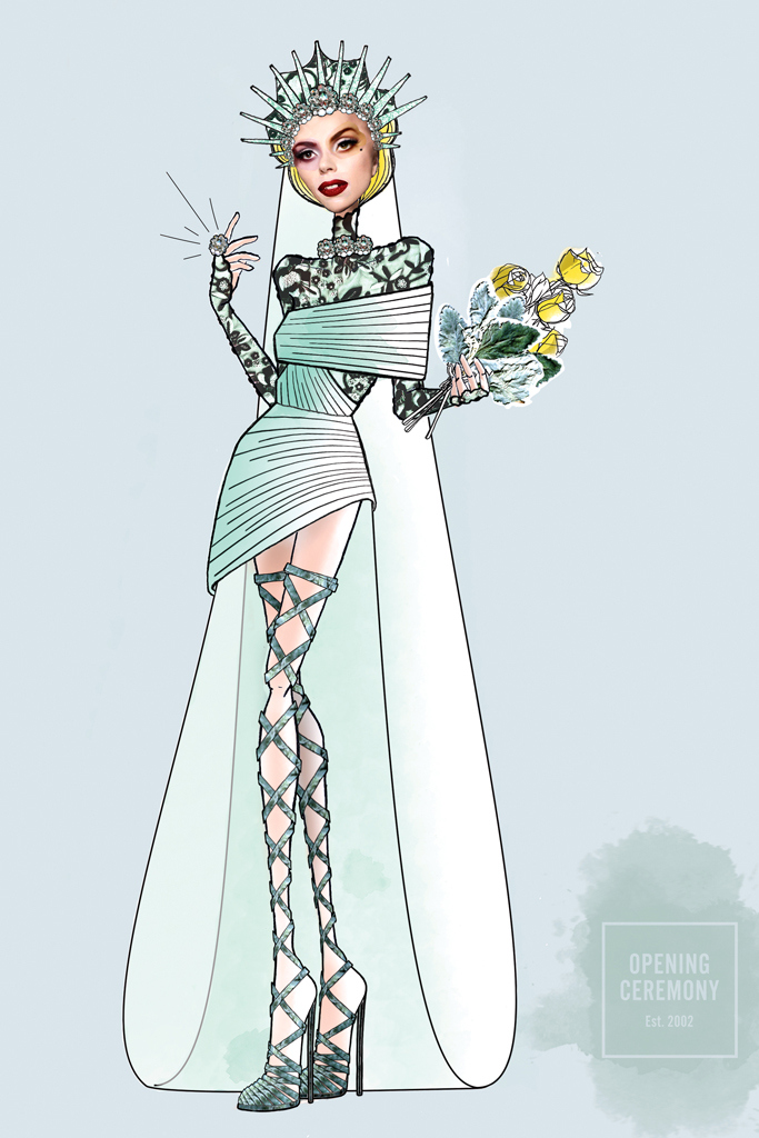 Свадебное платье Леди Гага от Opening Ceremony