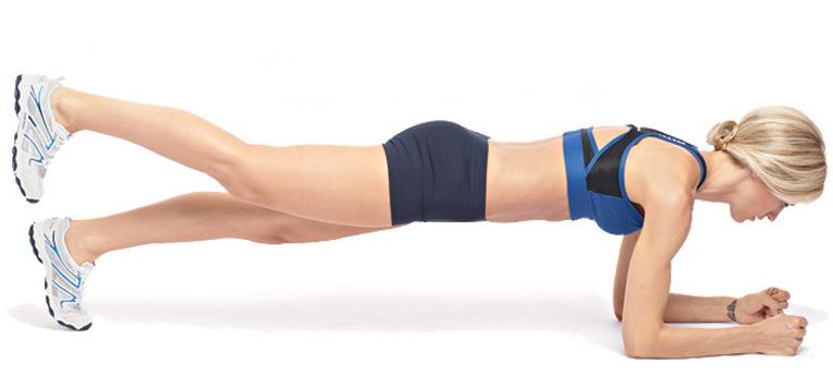 Планка на предплечьях с поднятой ногой или рукой