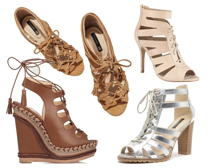 Шнуровка Модная обувь сезона весна лето 2014: тренды, фото лучших моделей.