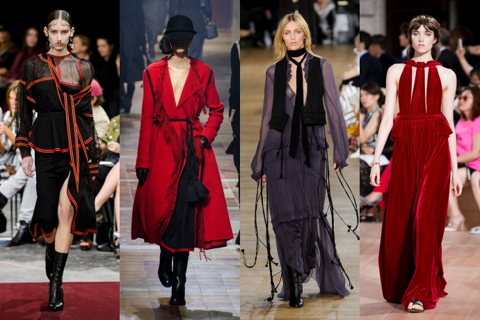 Givenchy, Lanvin, Chloe, Valentino