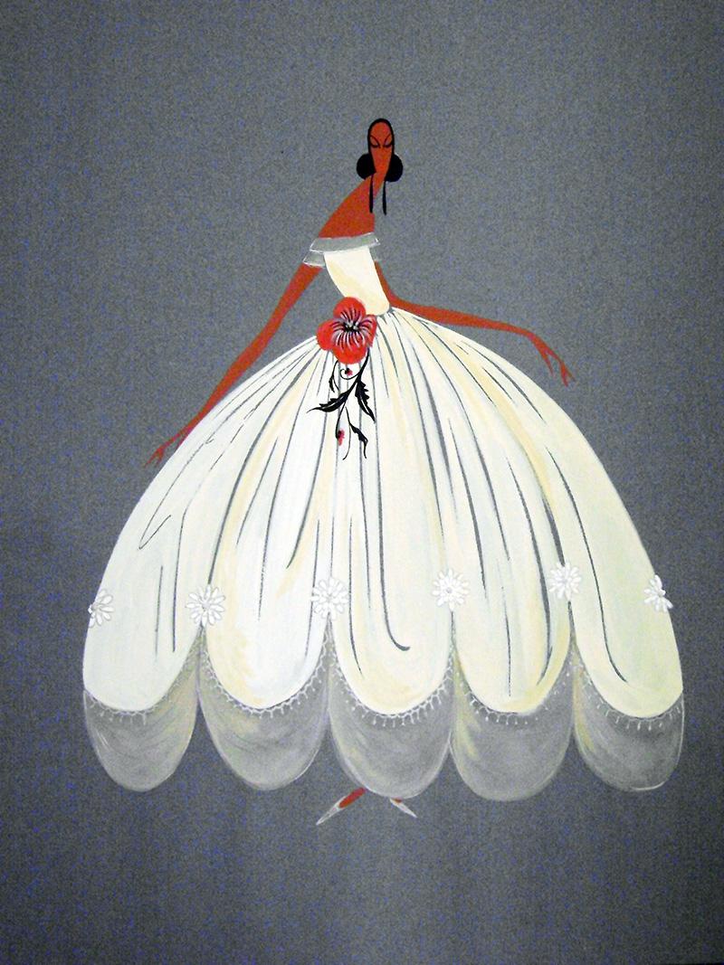 Эскиз ателье Lanvin, архивы Дома Lanvin в Париже
