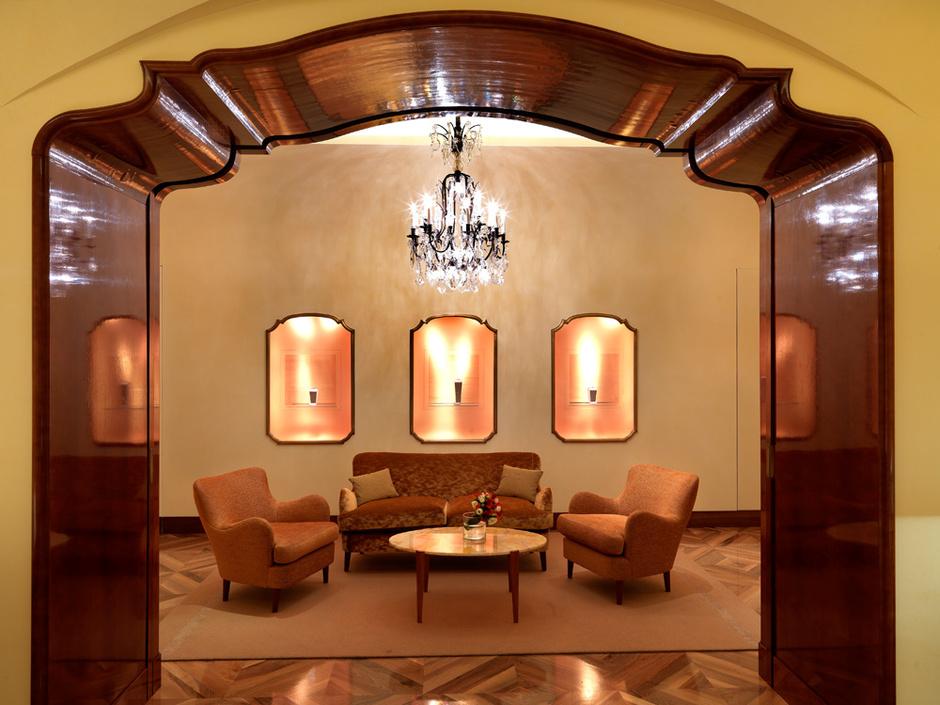 Зал для коллекций высокого ювелирного искусства.