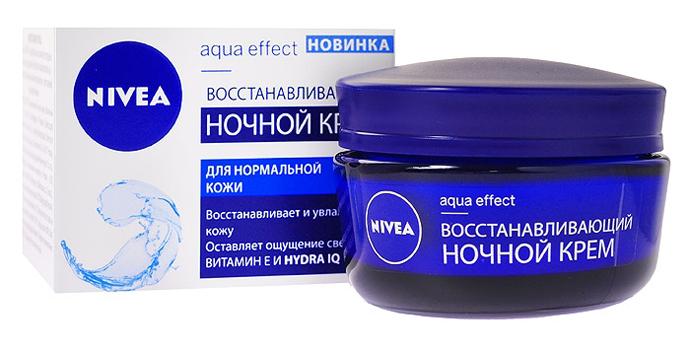 Восстанавливающий ночной крем Aqua Effect от Nivea