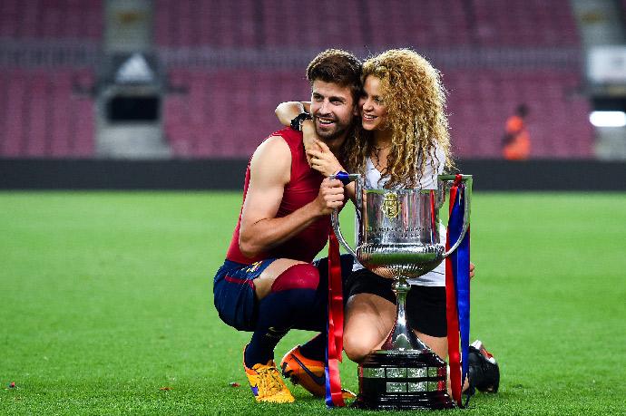 Шакира с мужем, футболистом Жераром Пике