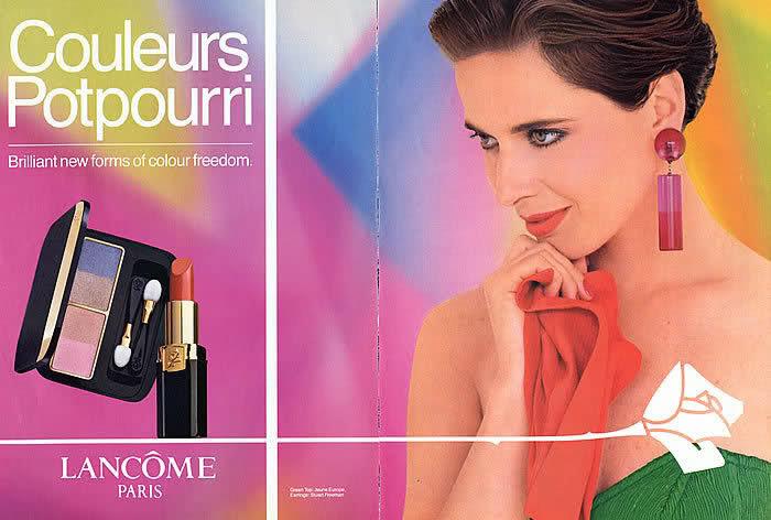 Рекламная кампания Lancôme конца 80-х годов