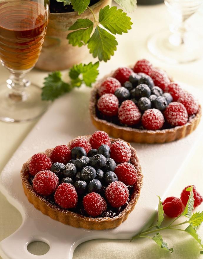 Тарталетки с творожно-ягодным муссом