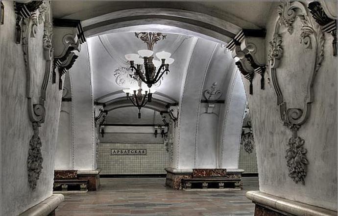 """Станция """"Арбатская"""" Арбатско-Покровской линии."""