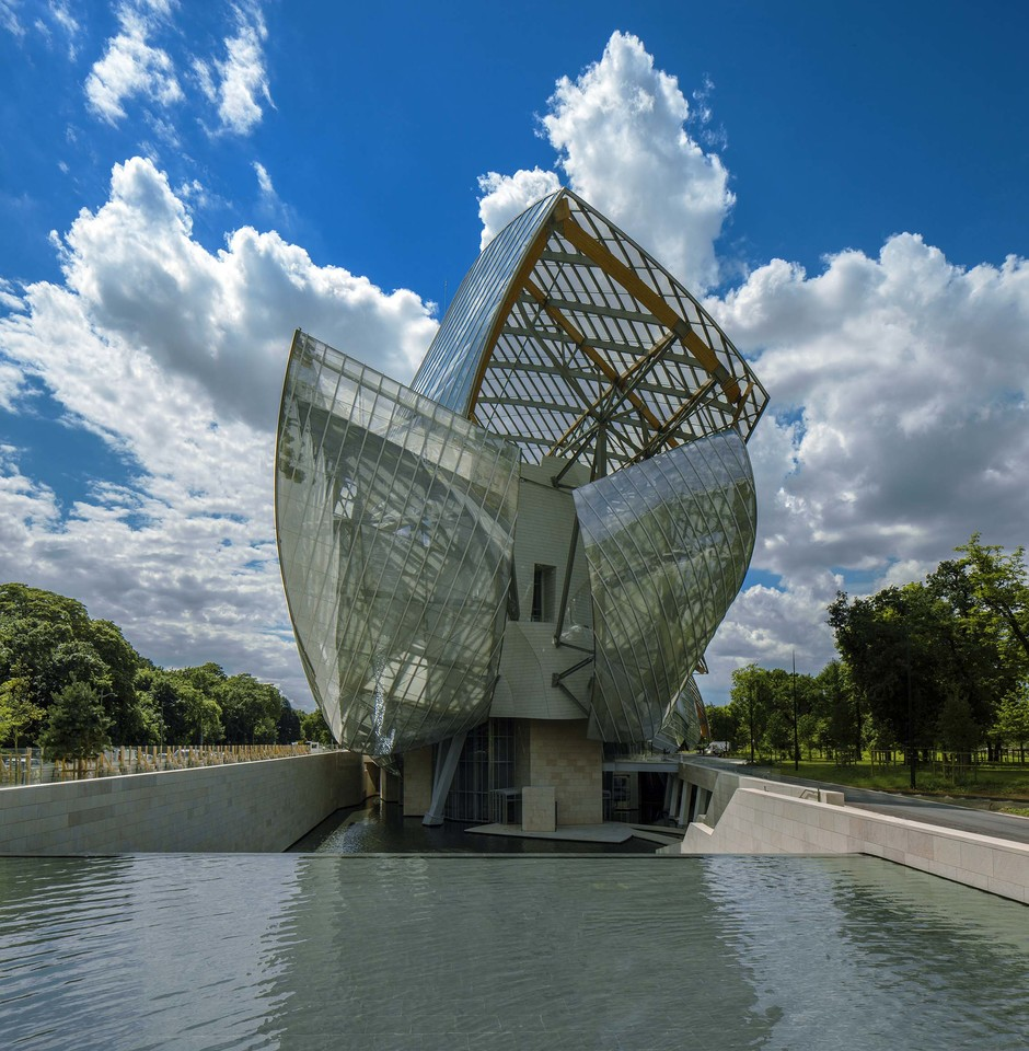 Музей Fondation Louis Vuitton, Париж. Архитектор Фрэнк Гери