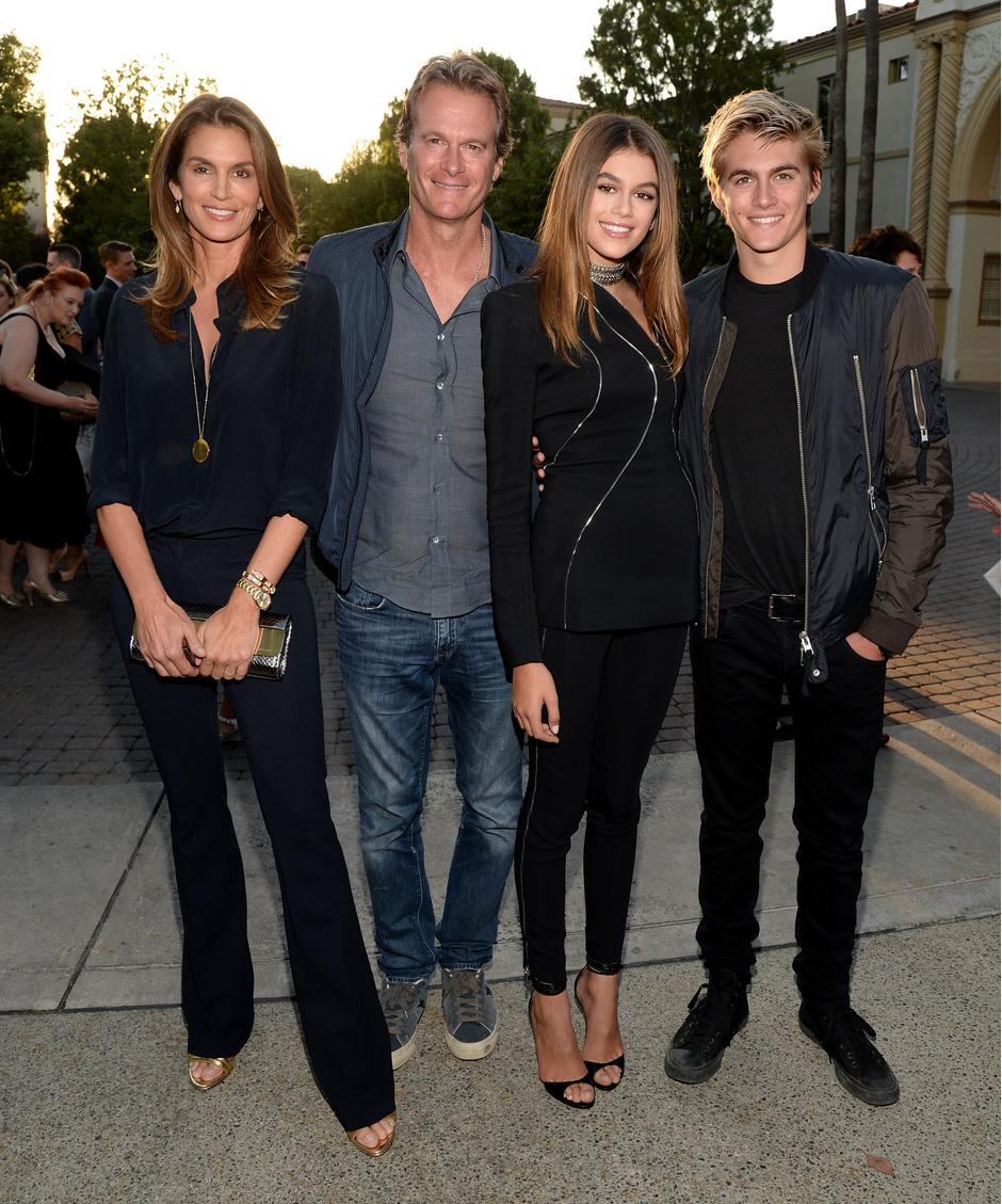 Кайя Гербер с семьей
