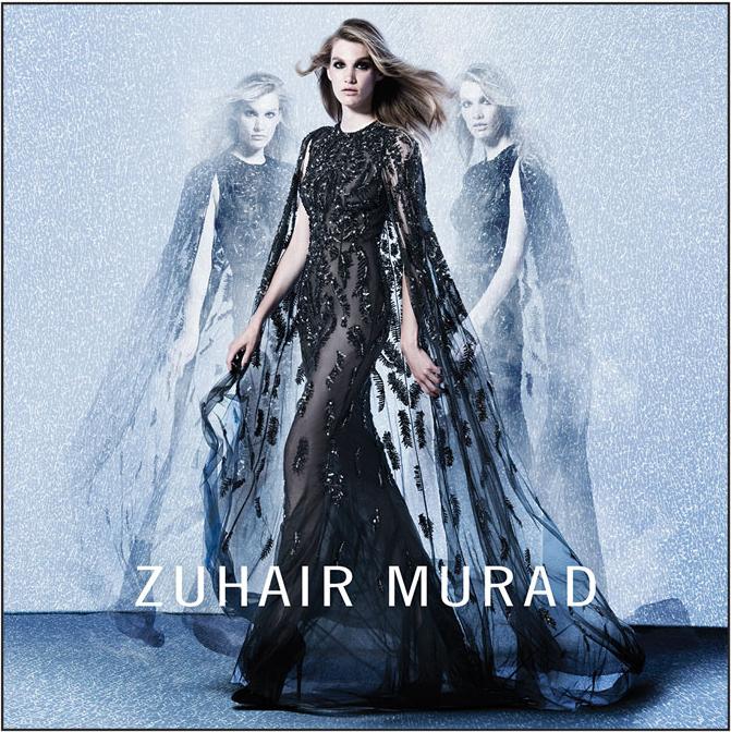 Черное кружевное платье от Zuhair Murad