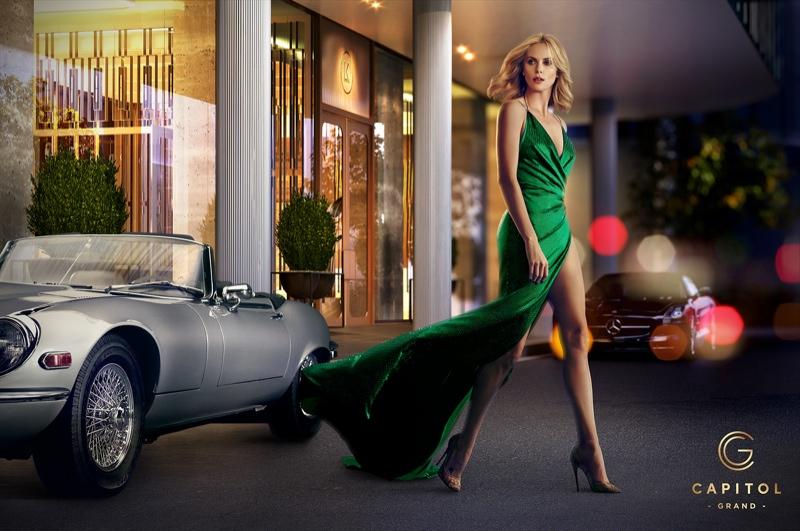 Шарлиз Терон в рекламе отеля Capitol Grand