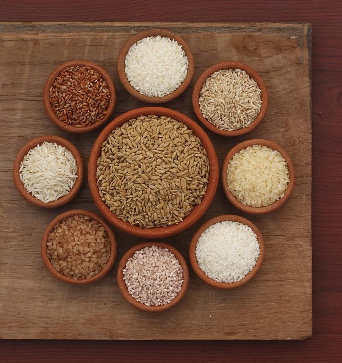 коричневый рис полезен для волос