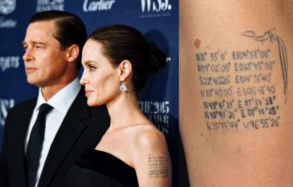 Брэд Питт и Анджелина Джоли татуировки