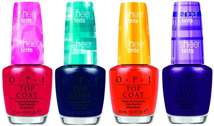OPI выпустили акварельные верхние покрытия для ногтей Sheer Tints