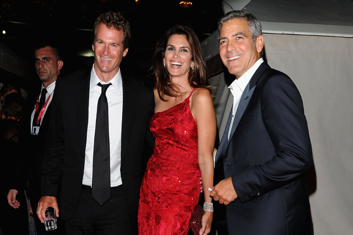 Ренди Гербер, Синди Кроуфорд и Джордж Клуни фото