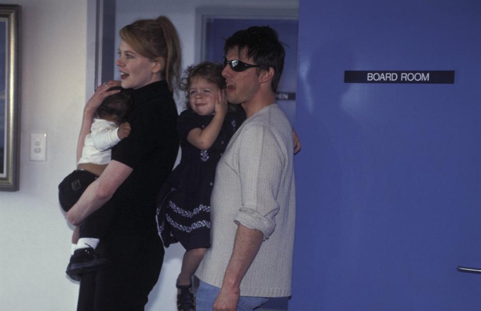 Николь Кидман с Томом Крузом и приемными детьми