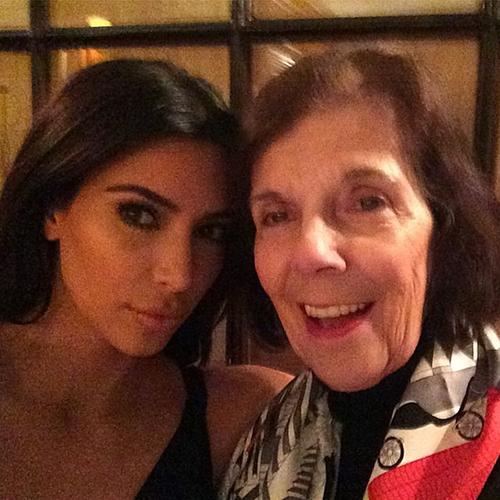 Ким Кардашьян с бабушкой