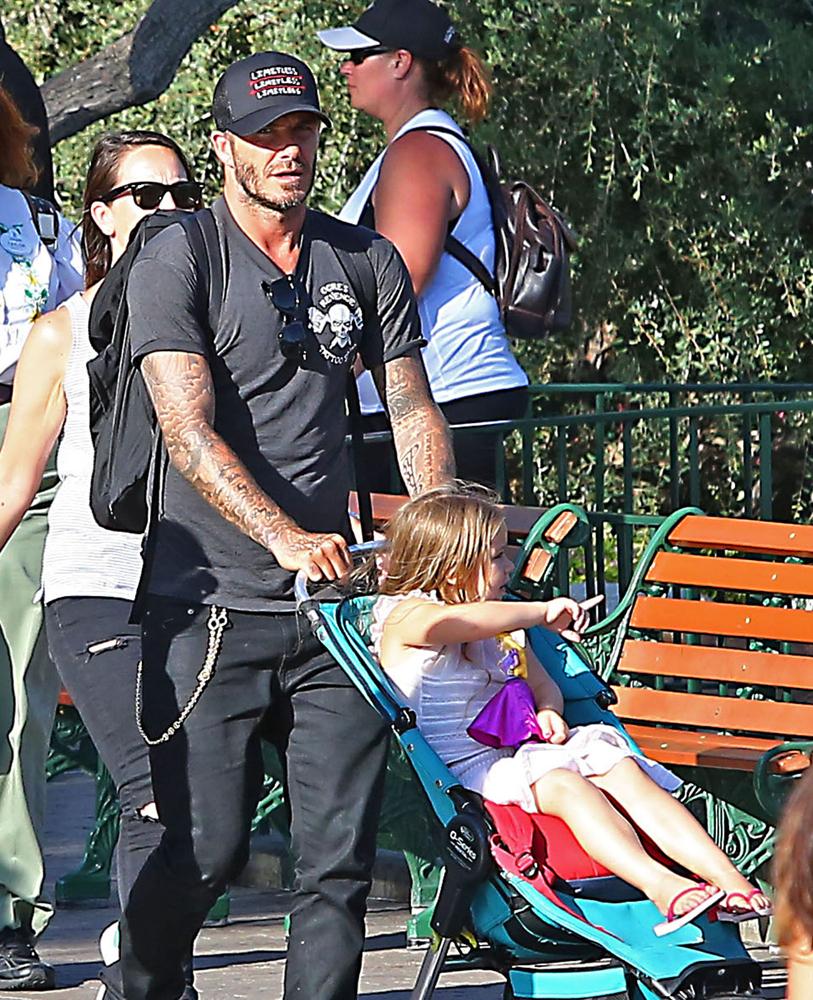 Дэвид Бекхэм с дочкой: фото 2015