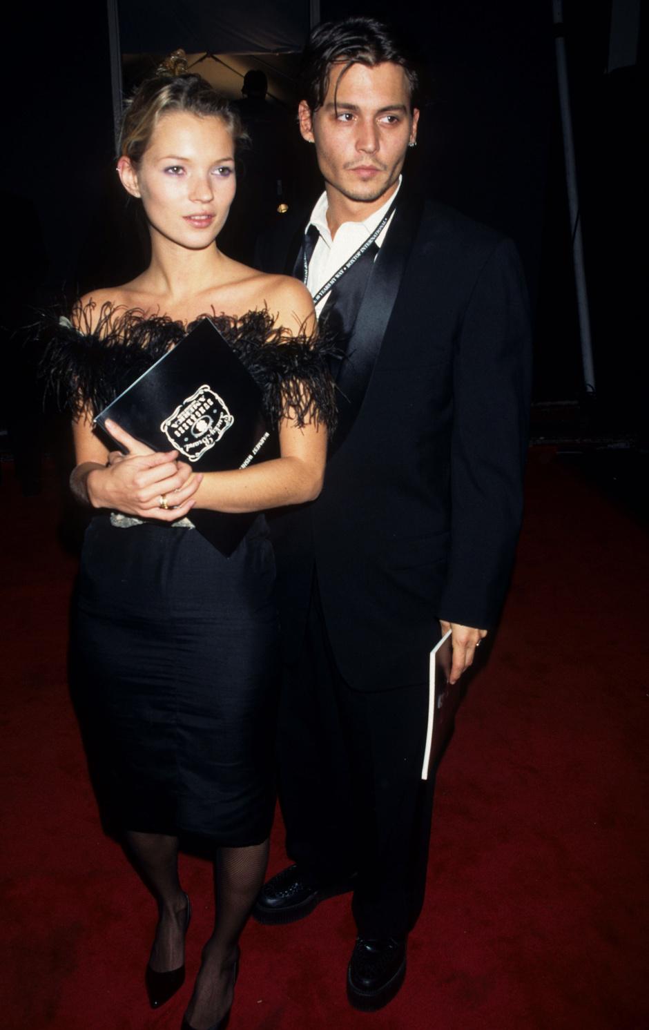 Джонни Депп и Кейт Мосс в 1995 году