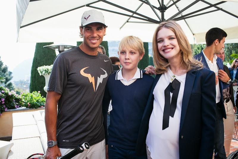 Рафаэль Надаль и Наталья Водянова с сыном
