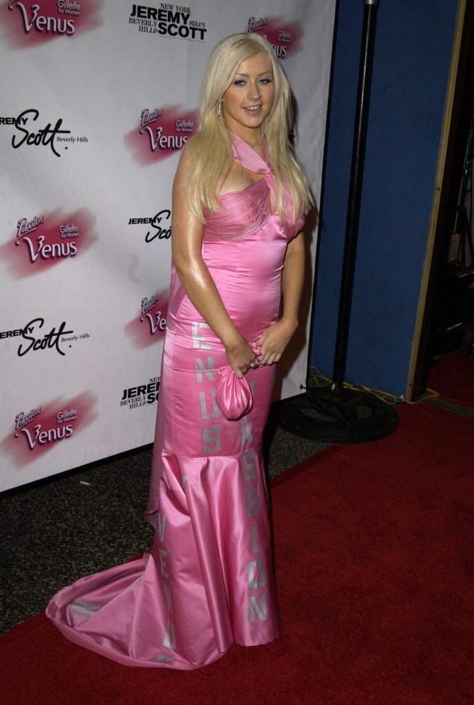 Кристина Агилера на The Passion For Fashion 2003 года