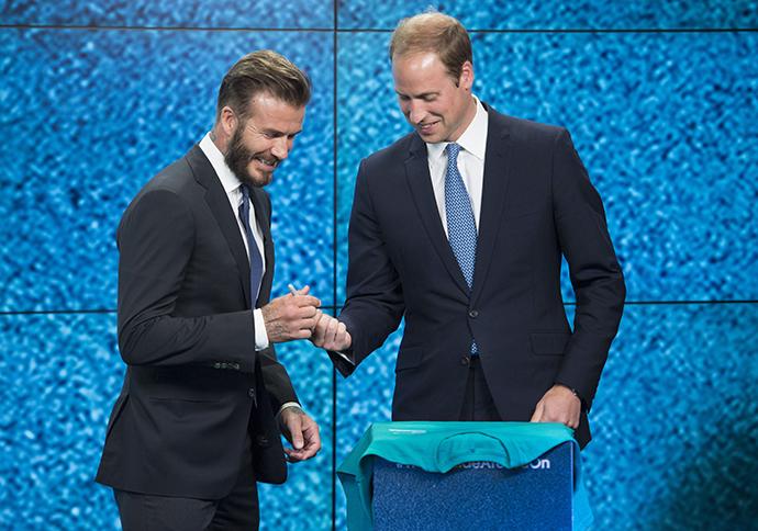 Дэвид Бекхэм и принц Уильям фото 2