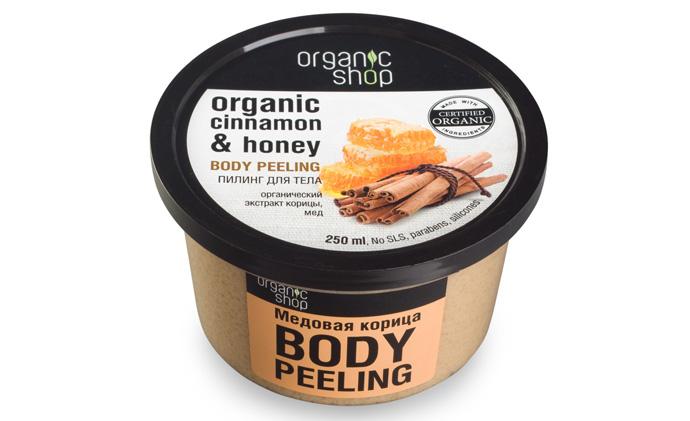 Пилинг для тела «Медовая корица» от Organic Shop