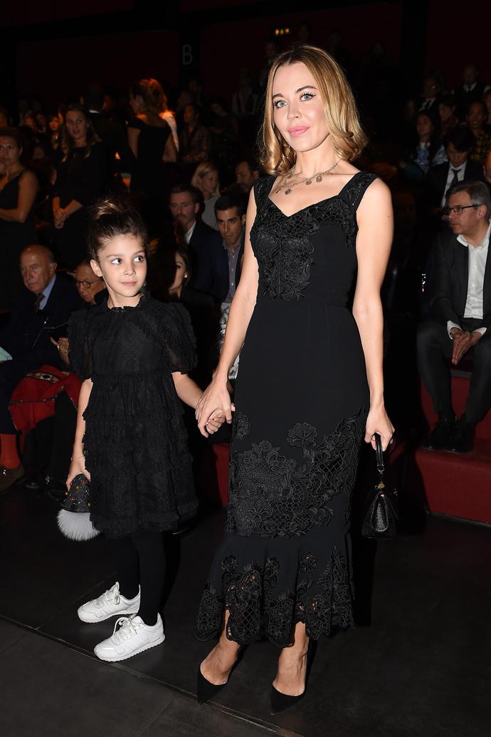 Ульяна Сергеенко с дочерью Василисой