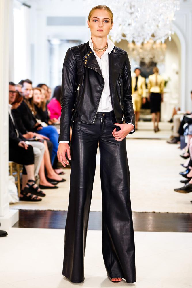 Кожаная куртка-косуха и кожаные брюки