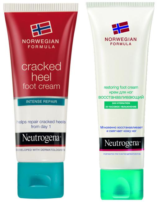 Neutrogena крем для ног восстанавливающий и Neutrogena cracked heel крем для ног Интенсивное восстановление