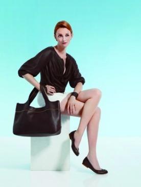 Одри Марнэй в рекламной кампании Longchamp
