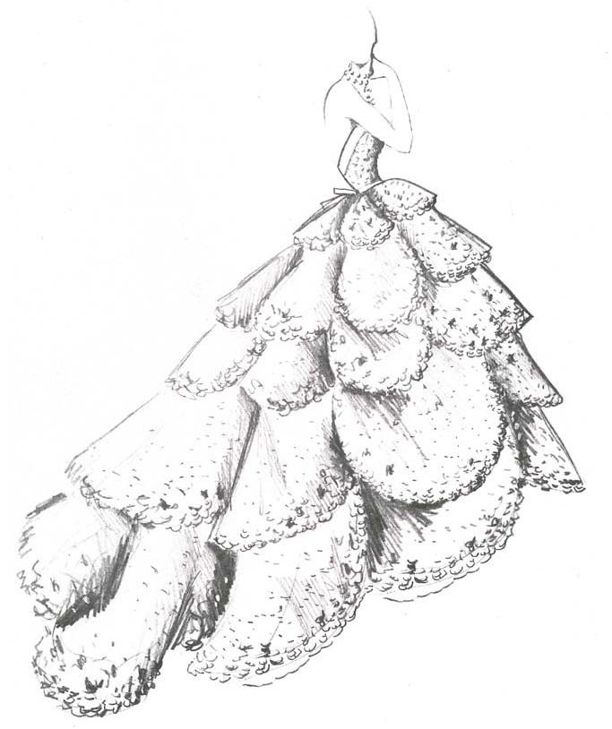 Платье Junon 1949 года, послужившее вдохновением на создание серег