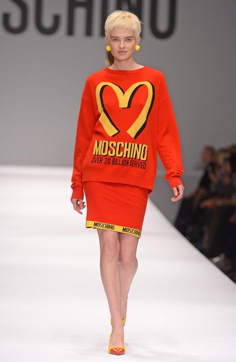 пуловер mcDonalds moschino