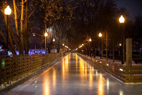 Открытие катка в Парке Горького | галерея [1] фото [9]