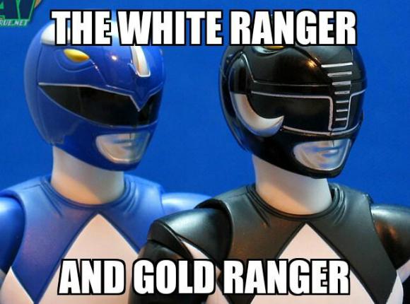 Белый рэнджер и золотой рэнджер