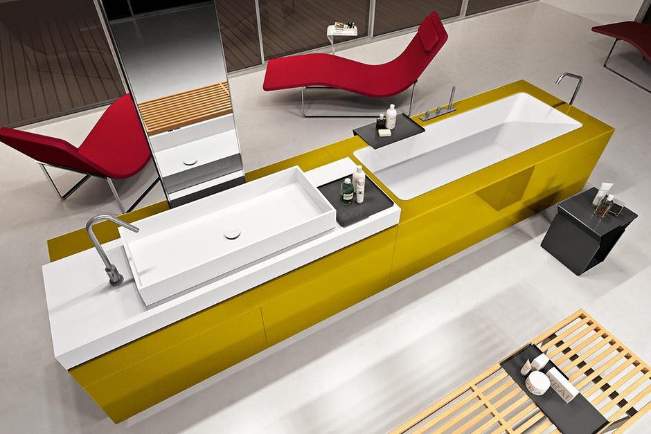 Независимый модуль со встроенной ванной