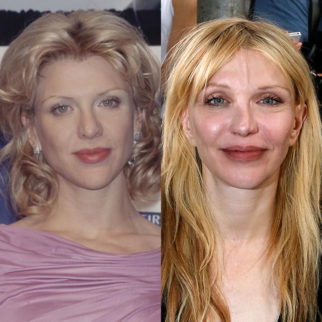 Кортни Лав в 1996 и в 2015