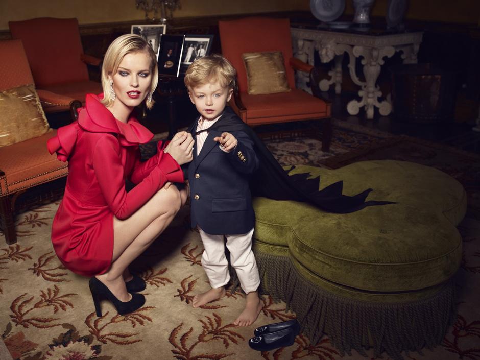 модель Ева Герцигова с сыном Джорджем