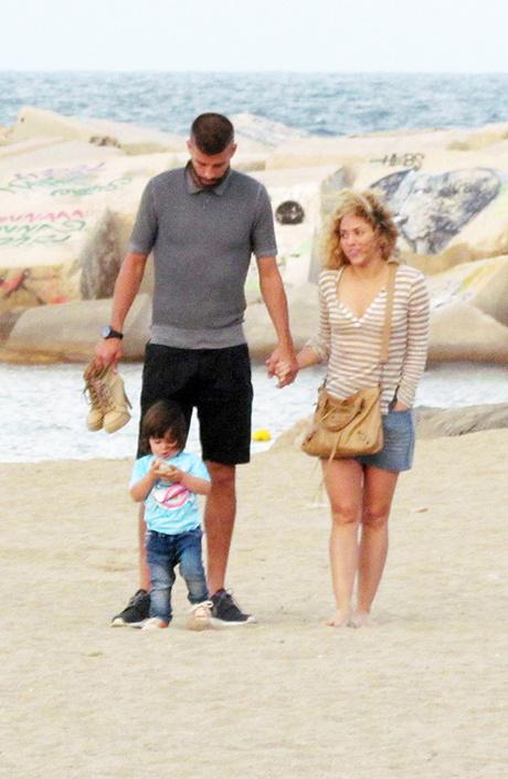 Жерар Пике и Шакира с сыном