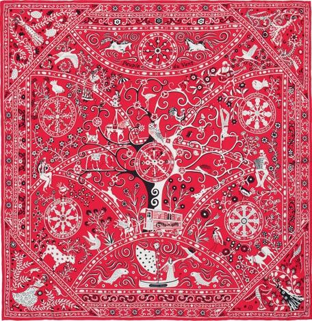 Новая коллекция шелковых платков от Hermès