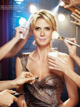Хайди Клум в рекламной кампании Got Milk?