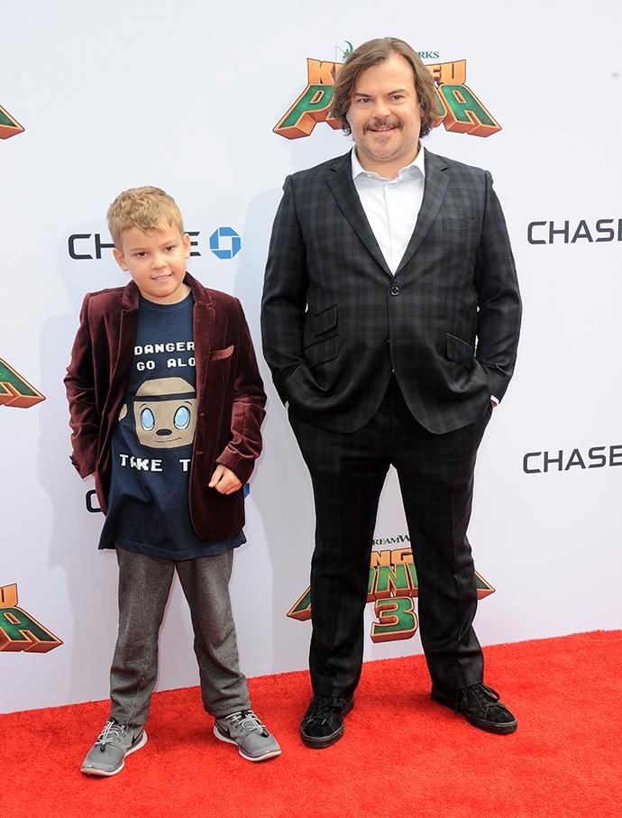 Джек Блэк с сыном