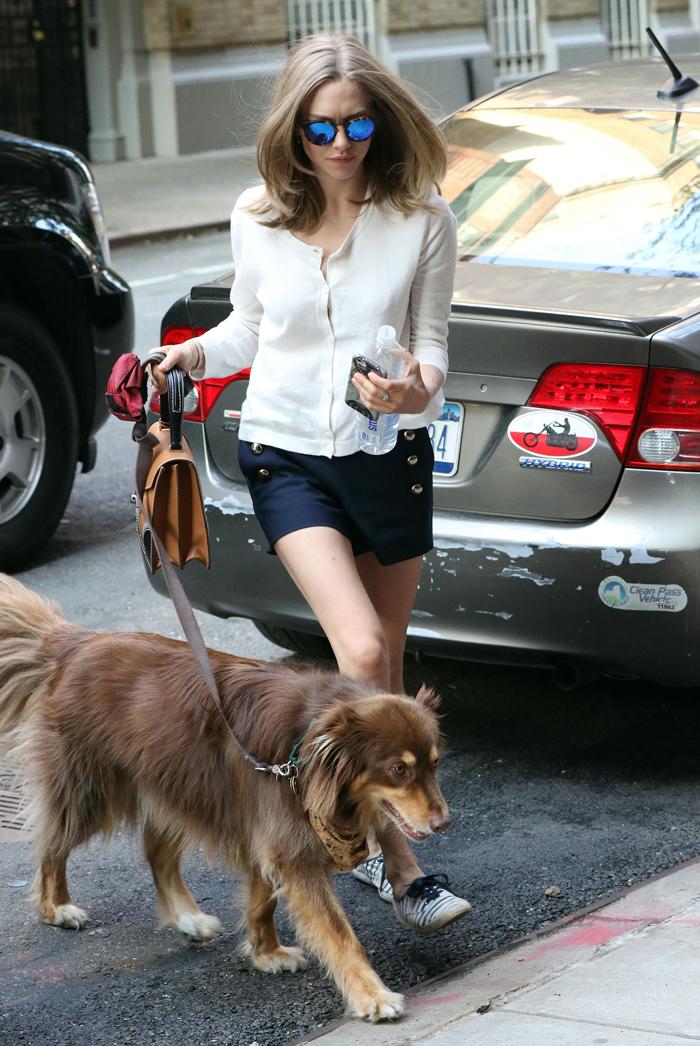 Аманда Сайфред и ее собака