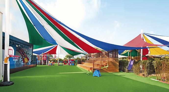 Игровая площадка на открытом воздухе мини-клуба Everland Q