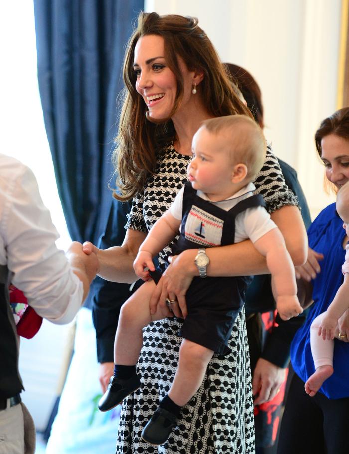 Кэтрин Элизабет с сыном Георгом: фото