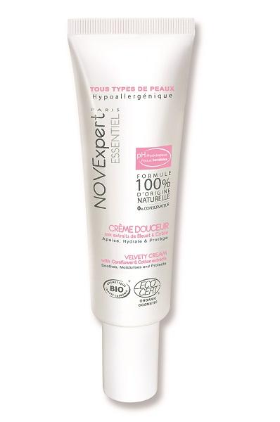 Смягчающий крем для лица с экстрактами василька и хлопка Velvety Cream от NovExpert