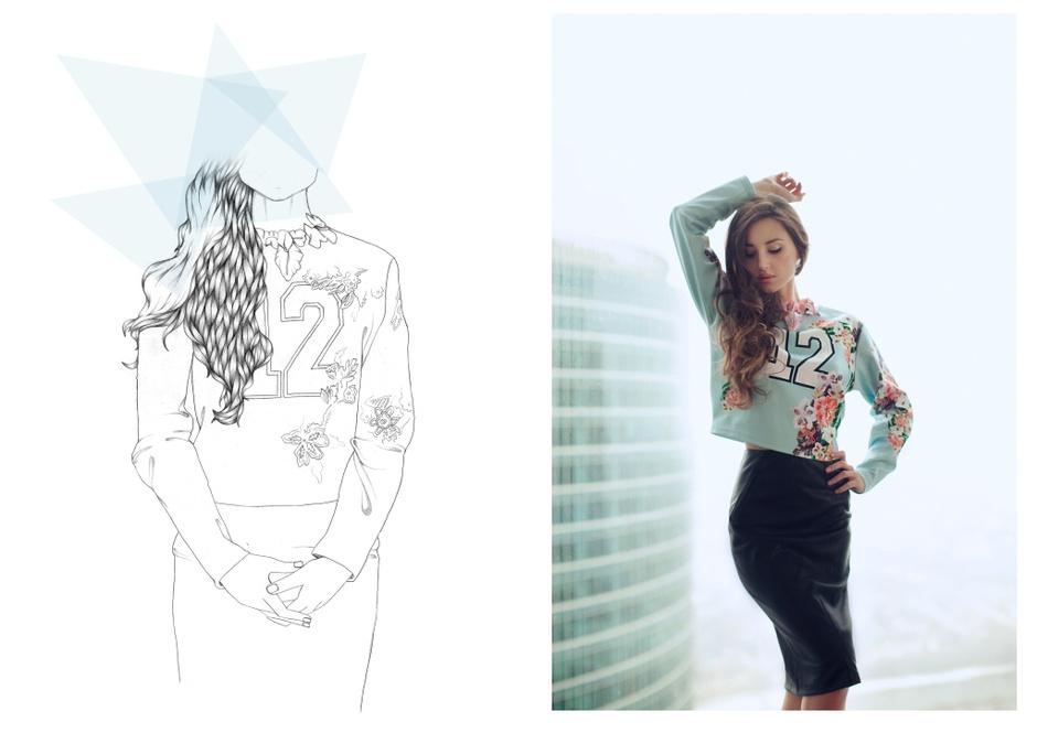 Свитшот - Asos; юбка - Zara; колье - Magia di Gamma
