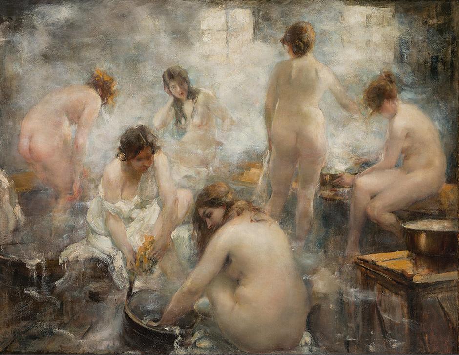 Тихов В.Г. В бане. 1921.