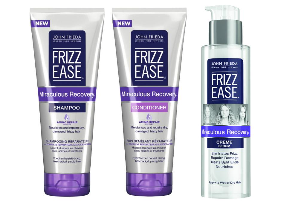 Шампунь, кондиционер и крем-сыворотка для укрепления волос Frizz Ease Miraculous Recovery